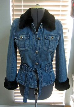 Info about attaching a fur collar and cuffs to a denim jacket ...