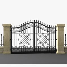 Model Wrought Iron Gate Wrought Iron Gate By Sogun Pictures Gate Wall Design, House Main Gates Design, Front Gate Design, Door Design, Balcony Grill Design, Balcony Railing Design, Modern Steel Gate Design, Wrought Iron Fences, Iron Doors