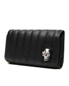 Lady Vamp Skull Wallet in Black Matte by Lux De Ville