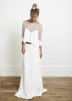 Crop Top Wedding Dresses | Bridal Musings Wedding Blog10
