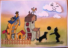 Hobby Bien: Skæve huse Distress Ink, Snoopy, Cards, Fictional Characters, Color, Design, Colour, Maps