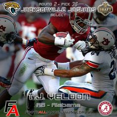 0ceb6cb7b3933 Alabama Crimson Tide - RB T. Yeldon - Drafted Round