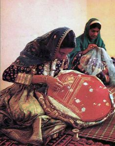 Village Women, needle work - 1970s
