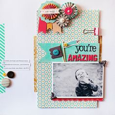 You're Amazing I BG Paper Cottage Collection I Kelly Noel