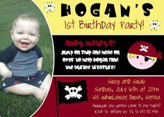 Custom Pirate Themed Birthday Party Invite  Digital by CAMRYNJOLEE, $15.00