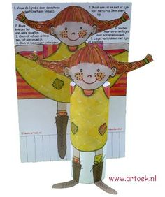 Cute Pippi Longstocking craft for treats or birthday party