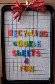 Cookie Sheet Math Board