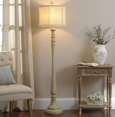 A house is not a home without a cozy corner for reading! The Sandy Cream Floor Lamp adds soft light and warm colors to your living room.