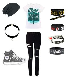 """Hanging Out With My Brothers Friends"" by demonlover2002 ❤ liked on Polyvore featuring Miss Selfridge and Converse"