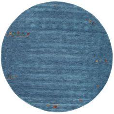 Tapis Gabbeh Indo - Bleu clair  Ø300