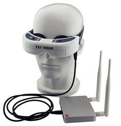 Fatshark FPV Goggles. Flying with FPV goggles is a thrilling epxerience. You are immersed right into the drone.