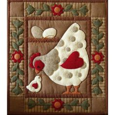 This quilt kit contains all the pieces to create this adorable hen and chick…