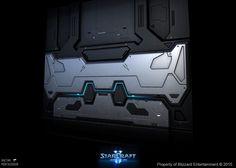 Starcraft II Nova Covert Ops - Door - LowPoly, Gaëtan Montaudouin on ArtStation at https://www.artstation.com/artwork/XO8v3