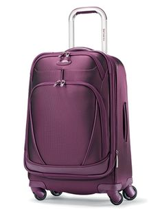 #Samsonite #Xspace Carry-On Spinner #Luggage -- Testers raved about how easy this carry-on was to pull around. Four multidirectional wheels make navigating long security lines and crowded terminals a cinch. Features include a removable suiter and a TSA-compliant toiletry bag.
