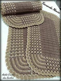 Tapete de crochet jogo