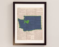 Awesome Seattle Seahawks Dictionary Art Print  Seattle by DictionArt, $10.00. #Superbowl 2014