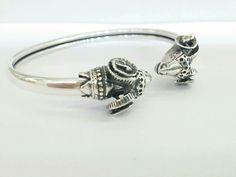 "★★★★★ ""Très beau bracelet livraison rapide."" Julia #etsy #jewelry #braceletβ #bracelet #silver #animals #boho #rams #greece #animal #handmade http://etsy.me/2o5xXC5"