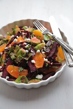 Roasted Beet and Brussels Sprout Citrus Salad - www.countrycleaver.com