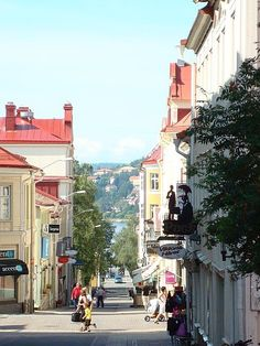 Downtown Ostersund, Sweden