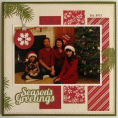 25+ best Christmas Scrapbook Layouts