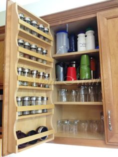 DIY Kitchen Organization ... this way I wouldn't have to dig through my cabinets everytime I'm looking for a certain seasoning ... love this ...