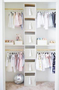 Nursery closet inspo