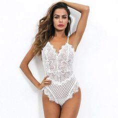 Sexy Lace Bodysuit Women Bodycon Jumpsuit Summer Cut Out Rompers Club Womens Jumpsuit Body Top Overalls Feminino Playsui White Bodysuit, Lace Bodysuit, Clubbing Outfits, Bodycon Jumpsuit, Body Suit Outfits, Bodysuit Fashion, Body Top, Jumpsuits For Women, Spring Outfits
