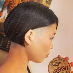 Shaved Bob, Shaved Undercut, Shaved Nape, Modern Hairstyles, Short Bob Hairstyles, Braided Hairstyles, Medium Hair Cuts, Medium Hair Styles, Short Hair Styles
