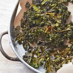 Baked kale chips are a savory and satisfying healthful snack you can feel good about eating. In this kale chips recipe, a touch of chili powder and ground cumin give the crisp kale chips extra zip./