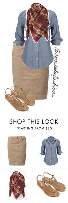 """""""Apostolic Fashions #1676"""" by apostolicfashions ❤ liked on Polyvore featuring Jackpot, Silver Jeans Co. and Accessorize"""