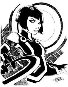Comic Shop Quorra by ~KidNotorious on deviantART