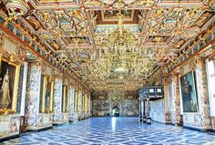 The Great Hall of Denmark was originally known as the Ballroom. It was built around 1620 and decorated with all the grandeur and magnificence expected of any powerful ruler.