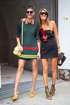 Girl on the Street: New York Fashion Week - Giobanna Battaglia in Celine and Ana Dello Russo #ZenniFashionChallenge