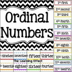 The Learning Effect: Free Printables: Number of the Day and Ordinal Numbers