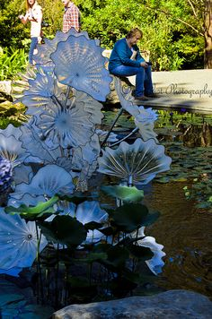 Persian Pond- Dale Chihuly - love this piece.  Am horrified that someone is sitting on one of the persians.