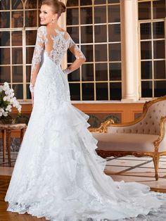 Superb High Qulity Mermaid Long Sleeve Lace Wedding Dresses Vestidos De Novia Alibaba Express Wedding Dresses