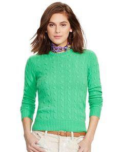 POLO RALPH LAUREN Cable-Knit Cashmere Sweater. #poloralphlauren ...