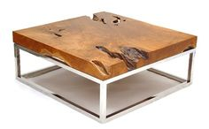 Natural Wood Coffee Tables - rustic table collection from Chista