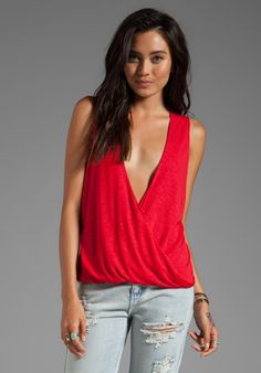BLUE LIFE Sleeveless Hayley Top in Red