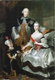 Grand Duchess Catherine with her husband Peter III