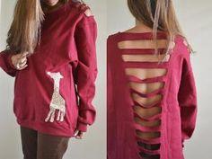 Custom orders for  Giraffe sweatshirts by callmecrasey on Etsy