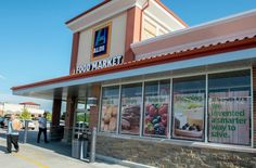 Aldi supermarket in West Des Moines, Iowa, July 16, 2015