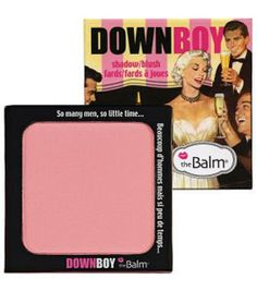 The Balm Down Boy.  I bought this but I havent tried it yet.  I love the light pink though.  So very girly.  Can also be used as a shadow.