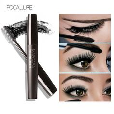 Special Section Mascara Eyeliner Thick And Waterproof Makeup Waterproof Long Eyelash Black Silicone Brush Professional Fresh Delicate Bright 2019 Official Face