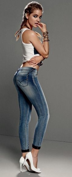 Barbara Palvin in awesome killer jeans! What a body!