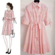 Popular Women's New Victorian Vintage Dress Is Very Popular French Minority Striped Dress casual dresses outfits, body shaper for dresses, quiencera dresses Fashion Drawing Dresses, Fashion Illustration Dresses, Fashion Dresses, Skirt Fashion, Cute Dresses, Vintage Dresses, Casual Dresses, 1950s Dresses, Vintage Clothing