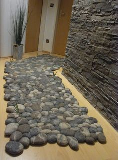 felt carpet supersoft pebbles - felt stone carpet, wool from sheep, lama, alpaka