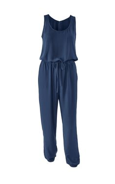 Get on the jumpsuit bandwagon with the French Navy Jumpsuit - CAbi Spring 2015 Collection- www.lexiebush.cabionline.com