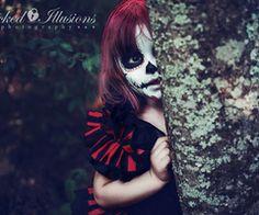 I love this little girls Sugar Skull makeup. Beautiful Samhain Costume idea