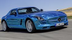 Mercedes SLS AMG - this electric-powered coupe, offers 740 hp, all-wheel-drive and a body that looks like liquid metal. Whoa!